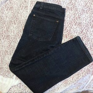 Eileen Fisher Straight Leg Dark Denim Jeans Small